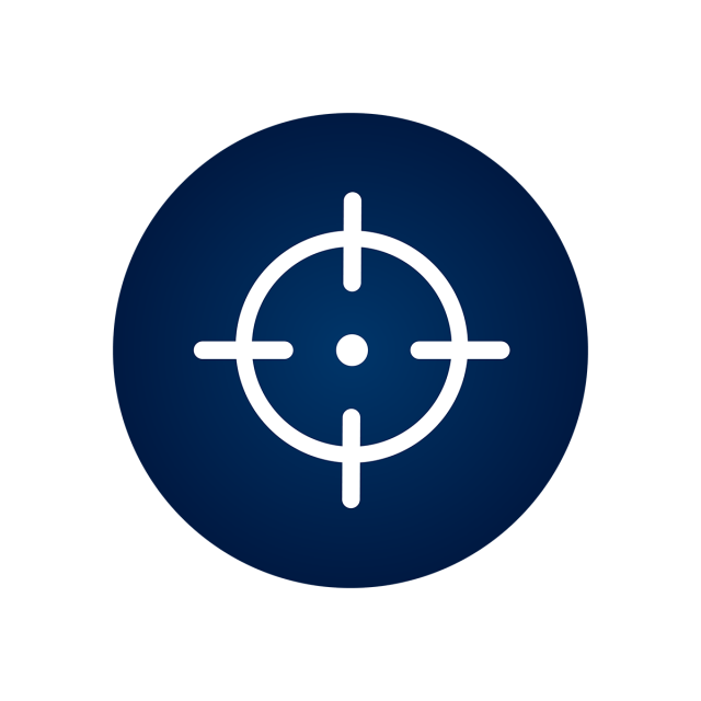 Vector target blank. Icon sign symbol png