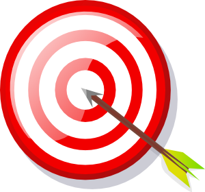 With arrow clip art. Vector target svg black and white download