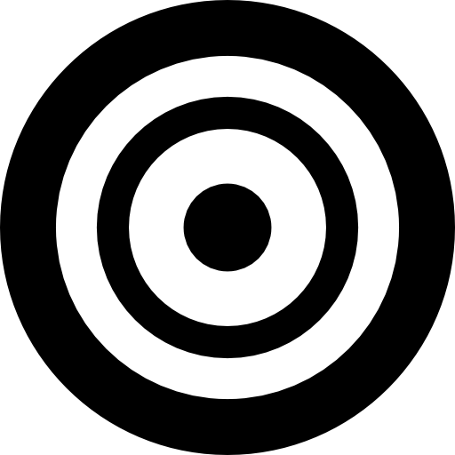 Vector target practice. Shooting free weapons icons