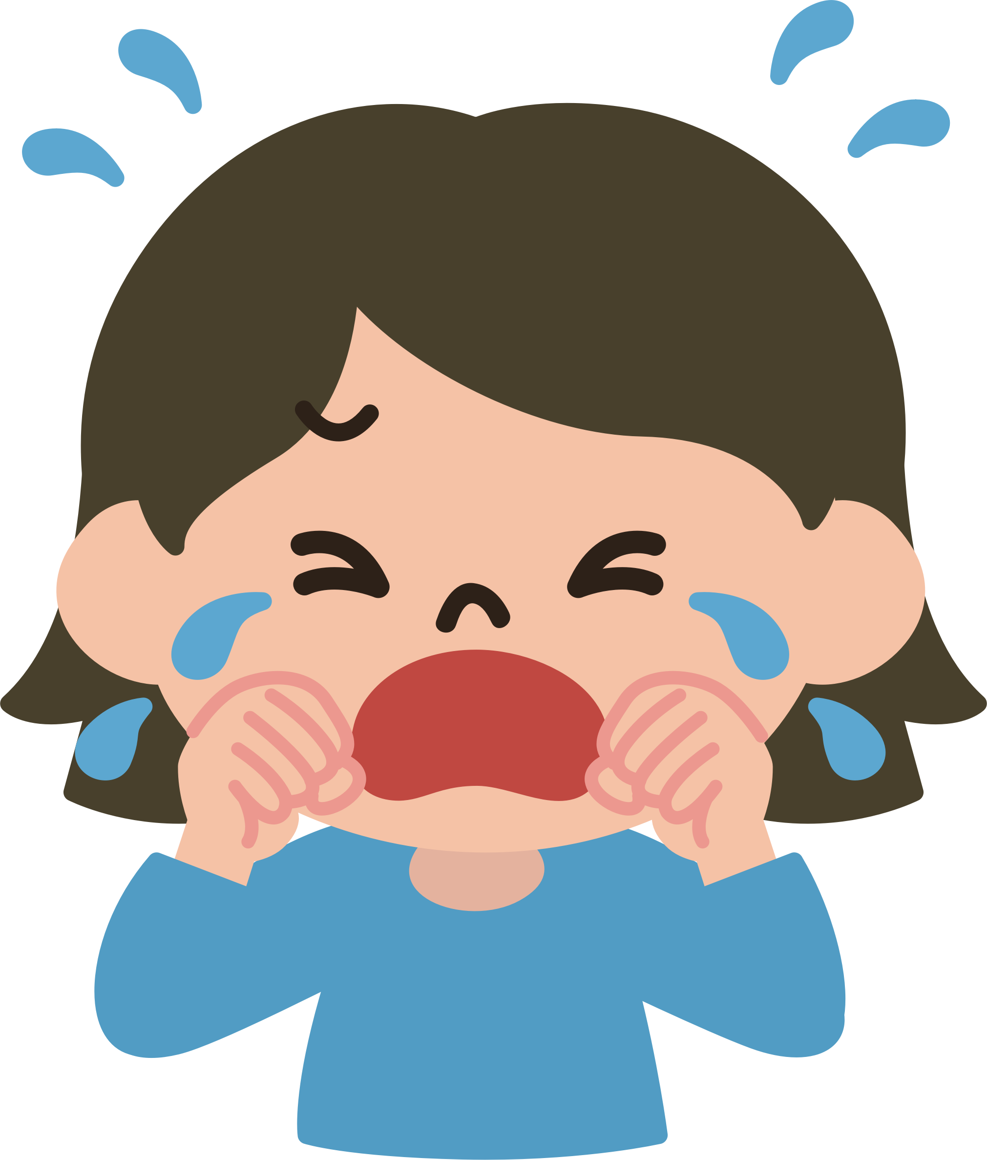 tears picture black. Crying clipart picture download