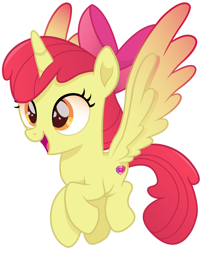 Vector tear cutie mark. Alicorn alicornified apple