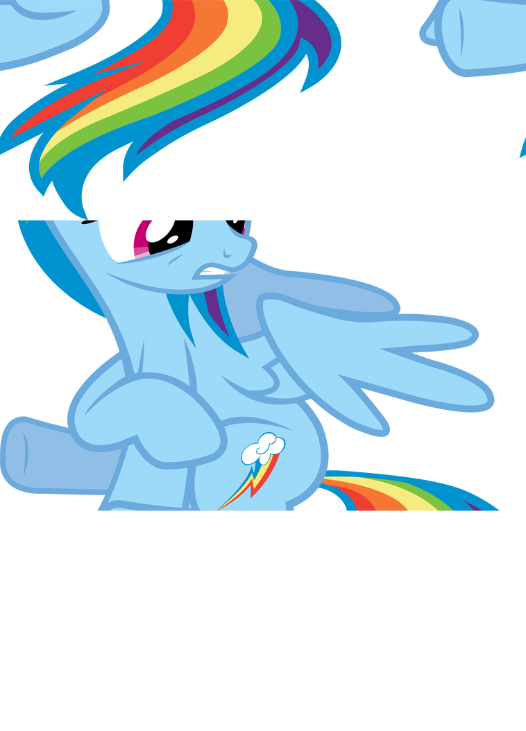 Vector tear cutie mark. Rainbow dash pointing to