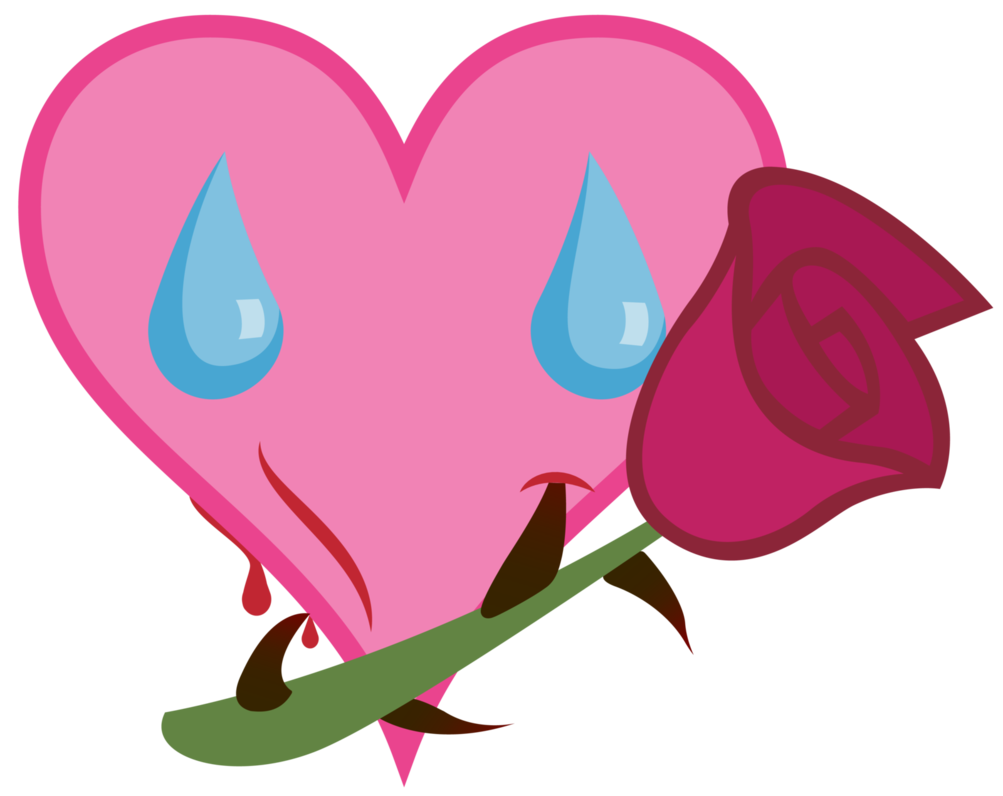 Vector tear cutie mark. Green rose s request