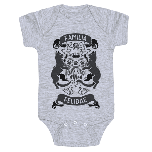 Vector tee real. Family crest baby onesies