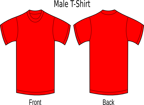 Vector tee red. Tshirt image library