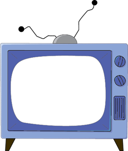 Vector television. The simpsons tv logo