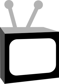 Vector television black and white. Clip art at clker