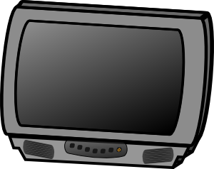 Vector television flat screen tv. Small panel lcd clip