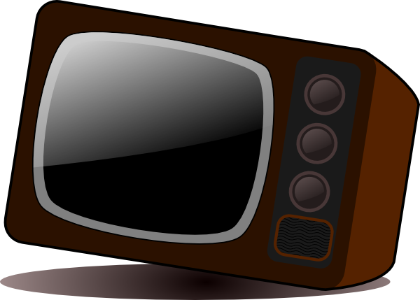 Vector television small. Old clip art at