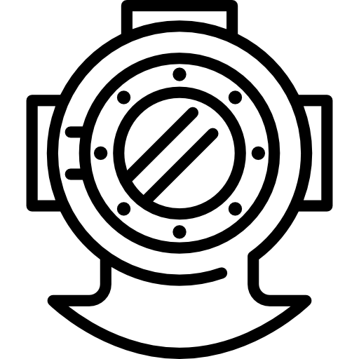 Vector tentacles divers helmet. Diving free icons icon