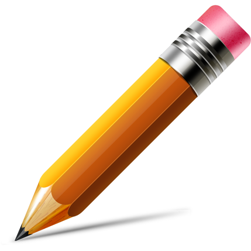 Vector test pencil. Icon psd old wives