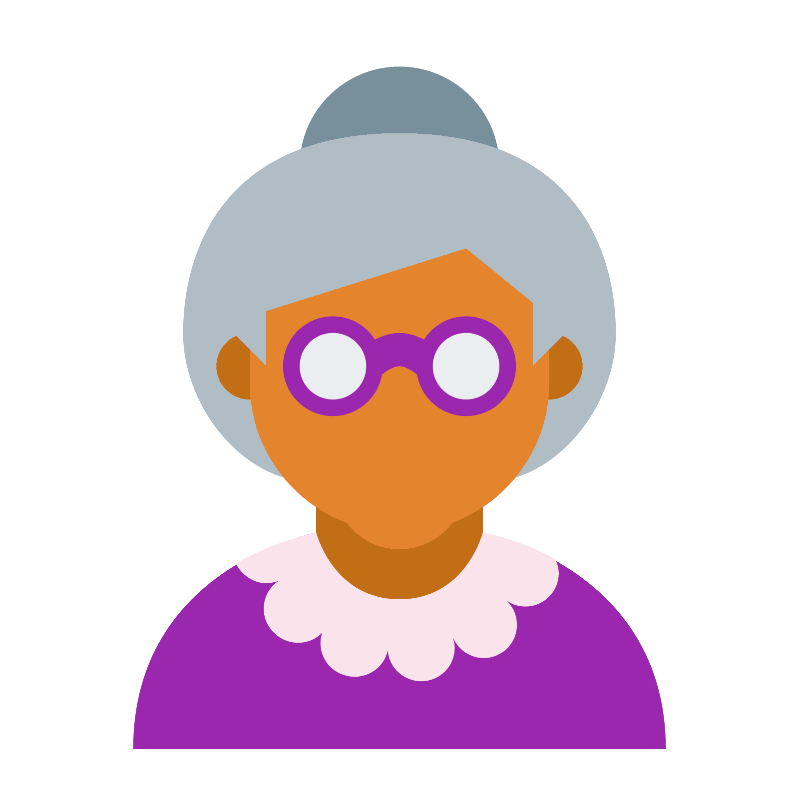 Vector type flat. Old age icon free
