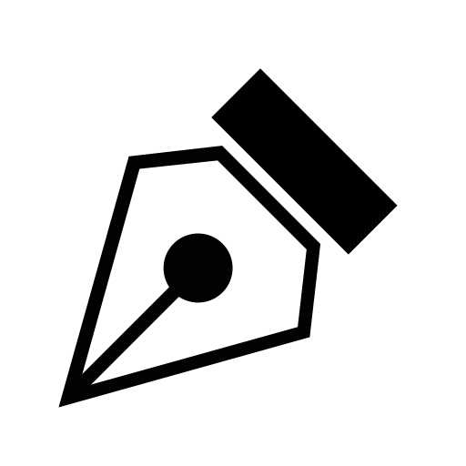 Vector tool. B pen icon with
