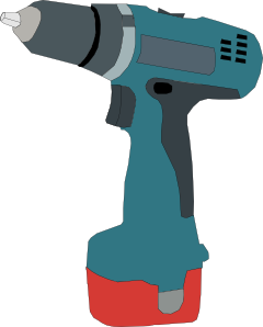 Electric drill battery powered. Vector tool electrical vector free