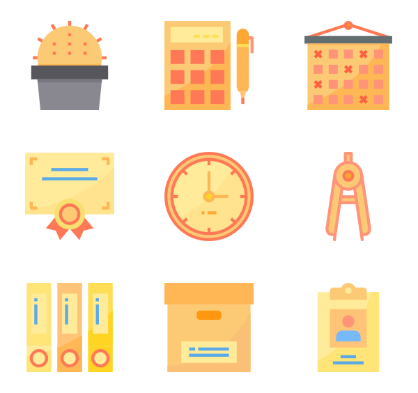 Vector tool office. Icon packs for