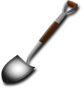 Shovel clip art at. Vector tool spade clipart freeuse