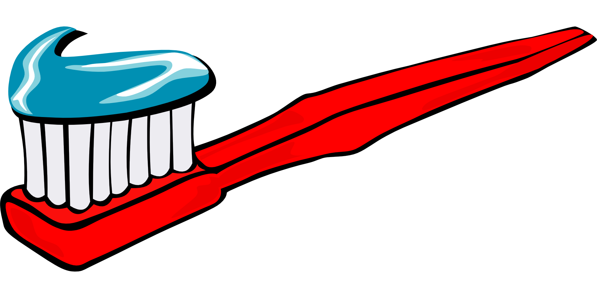 Vector toothbrush drawn. Collection of free drawing
