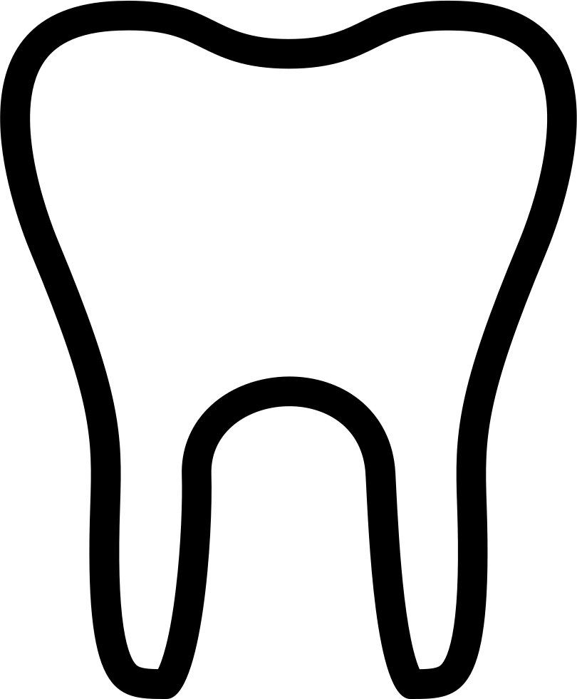 Vector toothbrush silhouette. Collection of free tooth