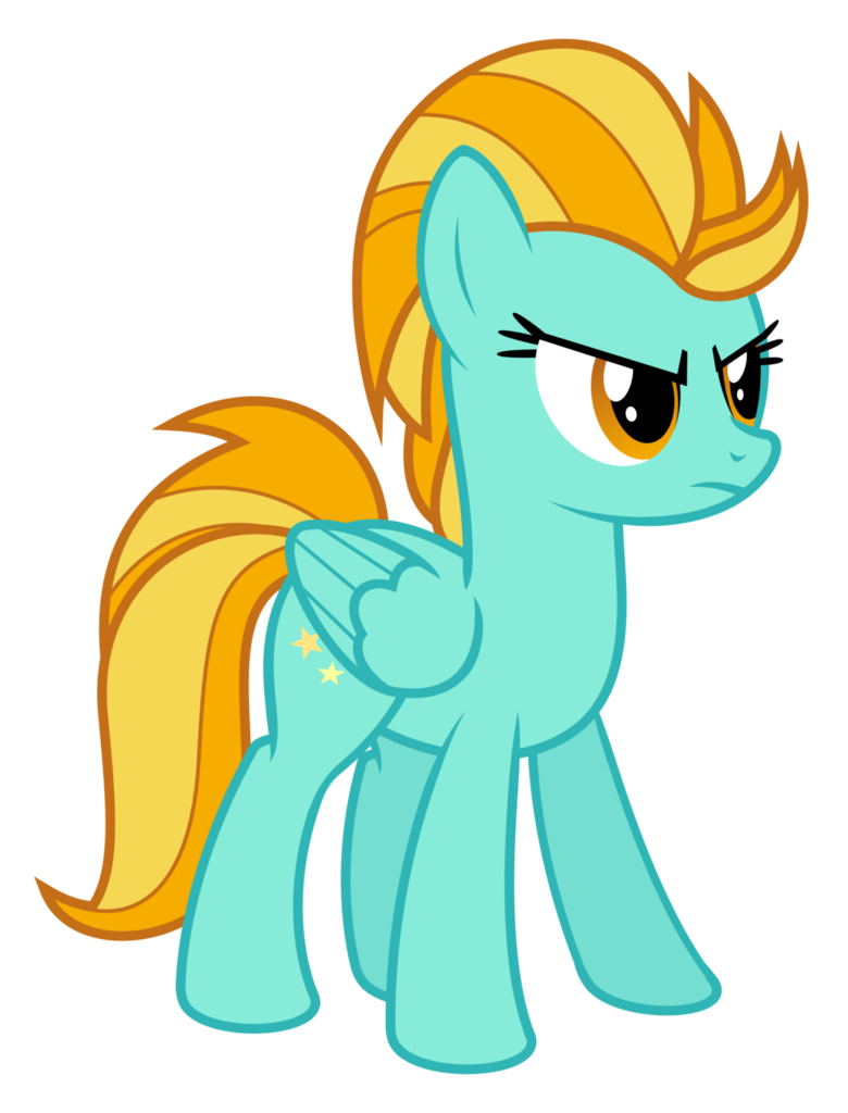Vector tornado angry. Lightning dust looking pony