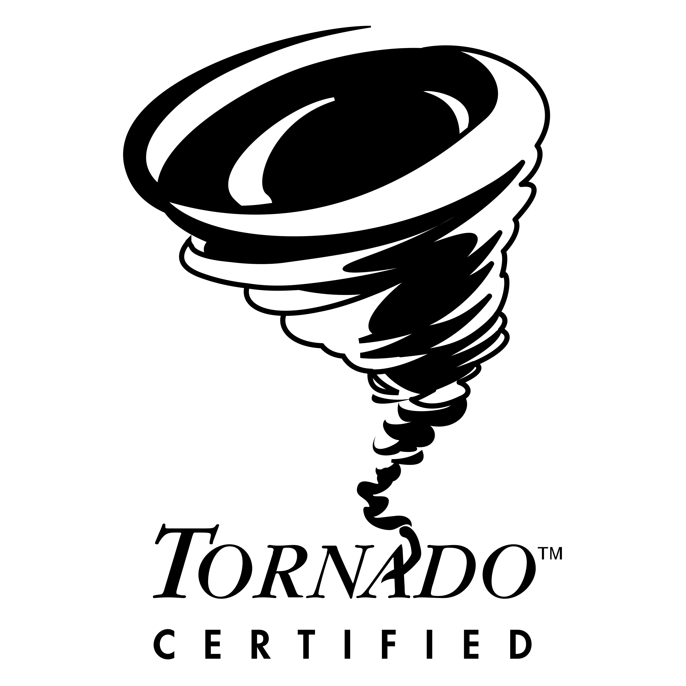 Vector tornado black and white. Certified logo png transparent
