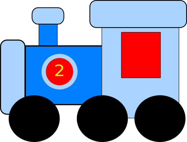 Vector trains birthday. Blue train clip art