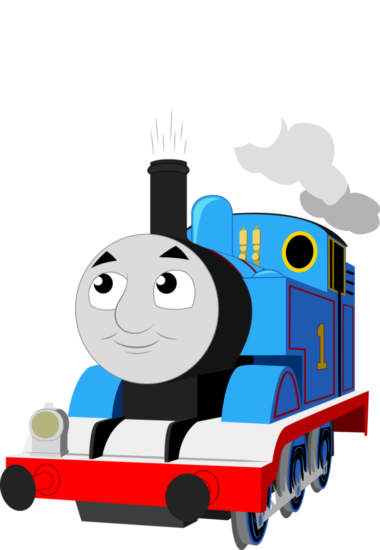 Vector trains cartoon. Thomas exploring by artthriller