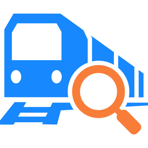 Railway inquiry train icon. Vector trains electric svg download