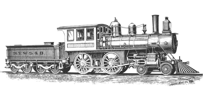 Drawing train old. Pinterest photos model
