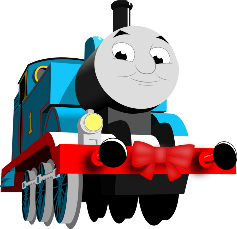 Vector trains thomas. Christmas by artthriller on
