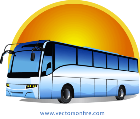 Vector transportation bus indian. Collection of free bussed