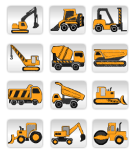 Vector transportation different. Construction equipment image clip