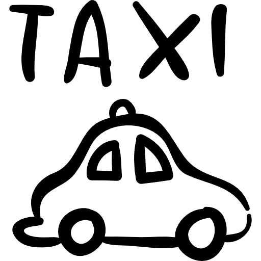 Vector transportation water taxi. Hand drawn car icons