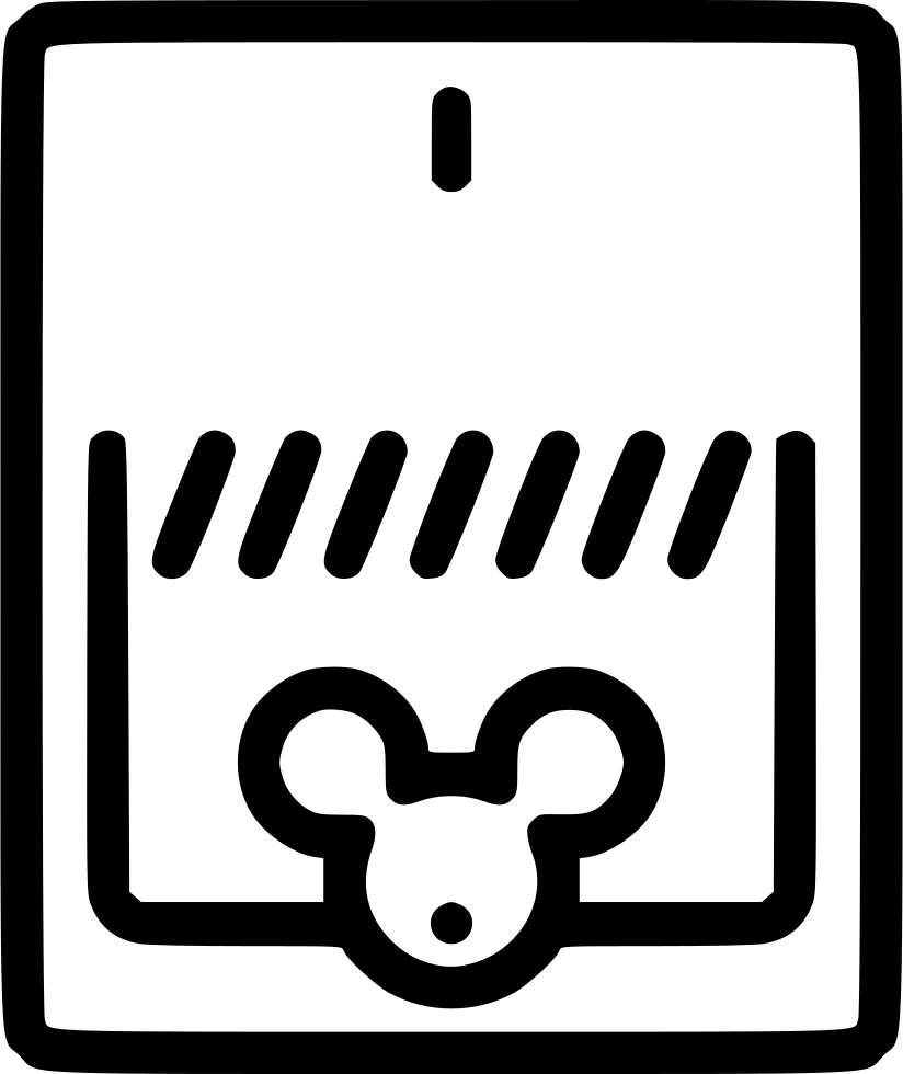 Vector trap mouse. Svg png icon free