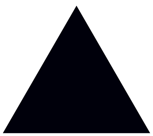 Vector triangles. Images of black triangle