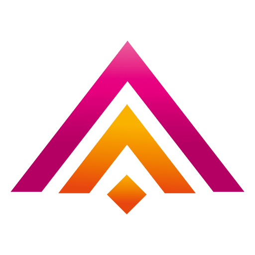 Vector triangles colorful. Colored real estate logo