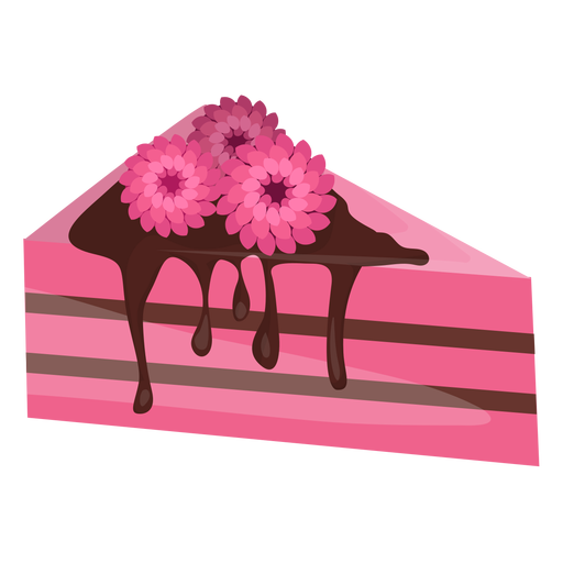 Vector triangles floral. Triangle cake slice with