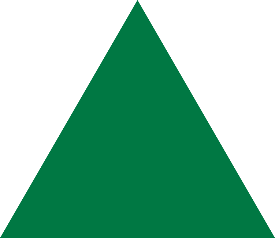 Vector triangles green. File equilateral triangle point