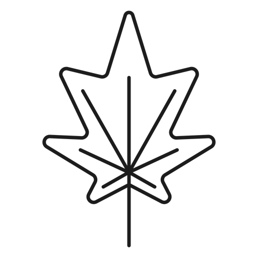 Vector triangles leaf. Pointed sides style icon