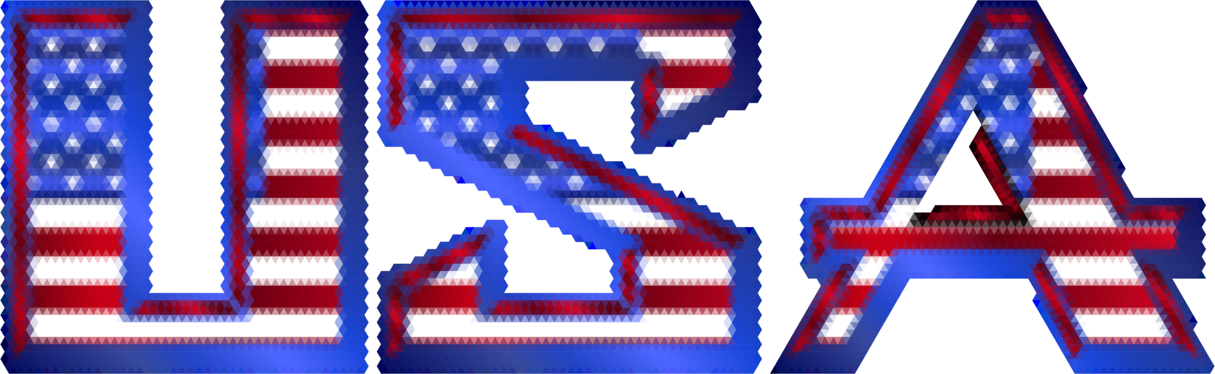 Vector triangles mosaic. Flag of the united