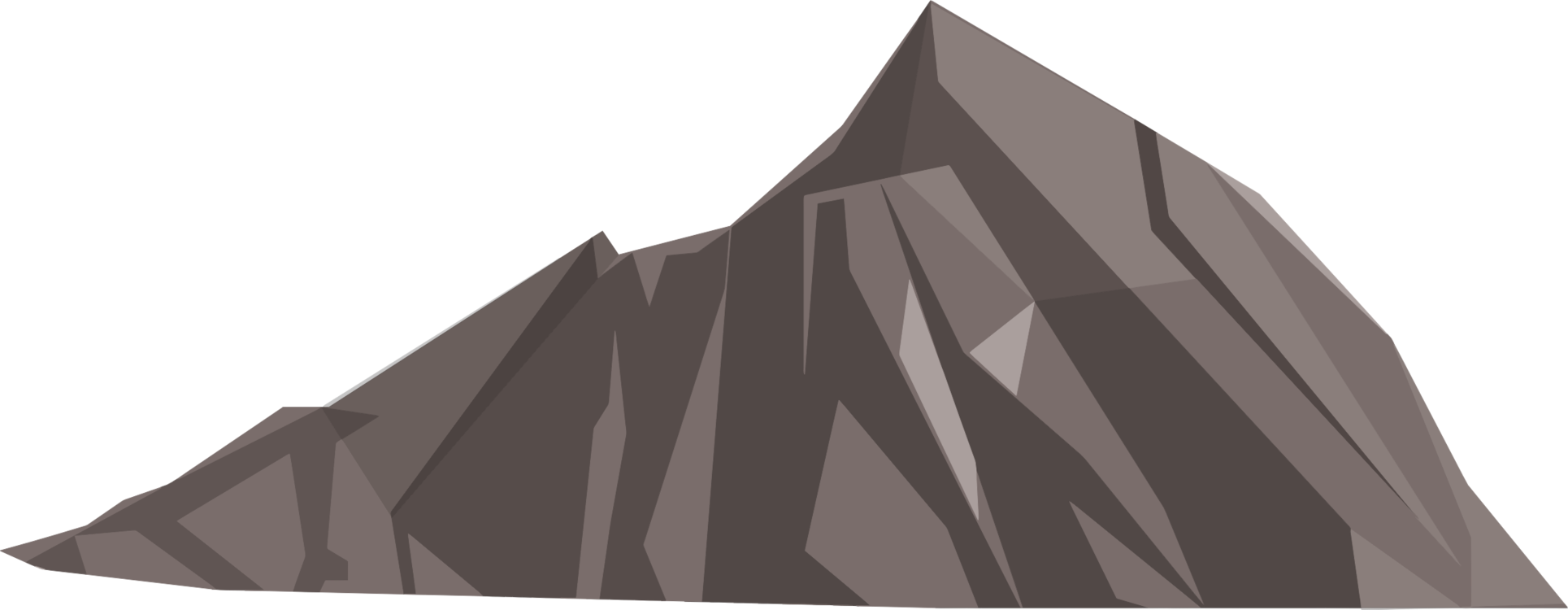 Vector triangles mountains. Low poly polygon d