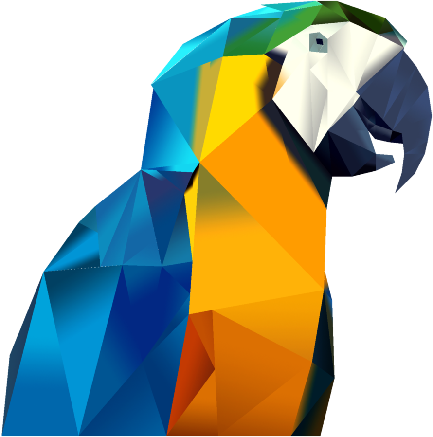 Vector triangles polygon. Triangle parrot by yamadaich