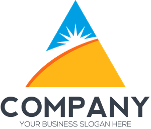 Vector triangles brand. Triangle sun company logo
