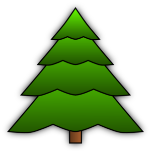 Vector triangles tree. Simple clip art at