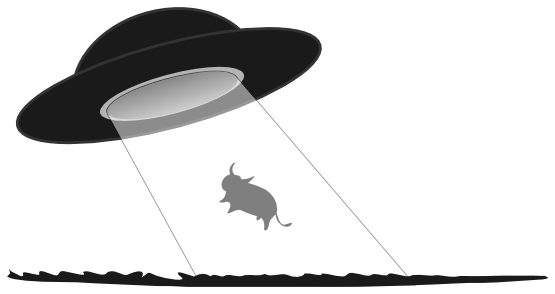 Vector ufo abduction. Collection of free abducting