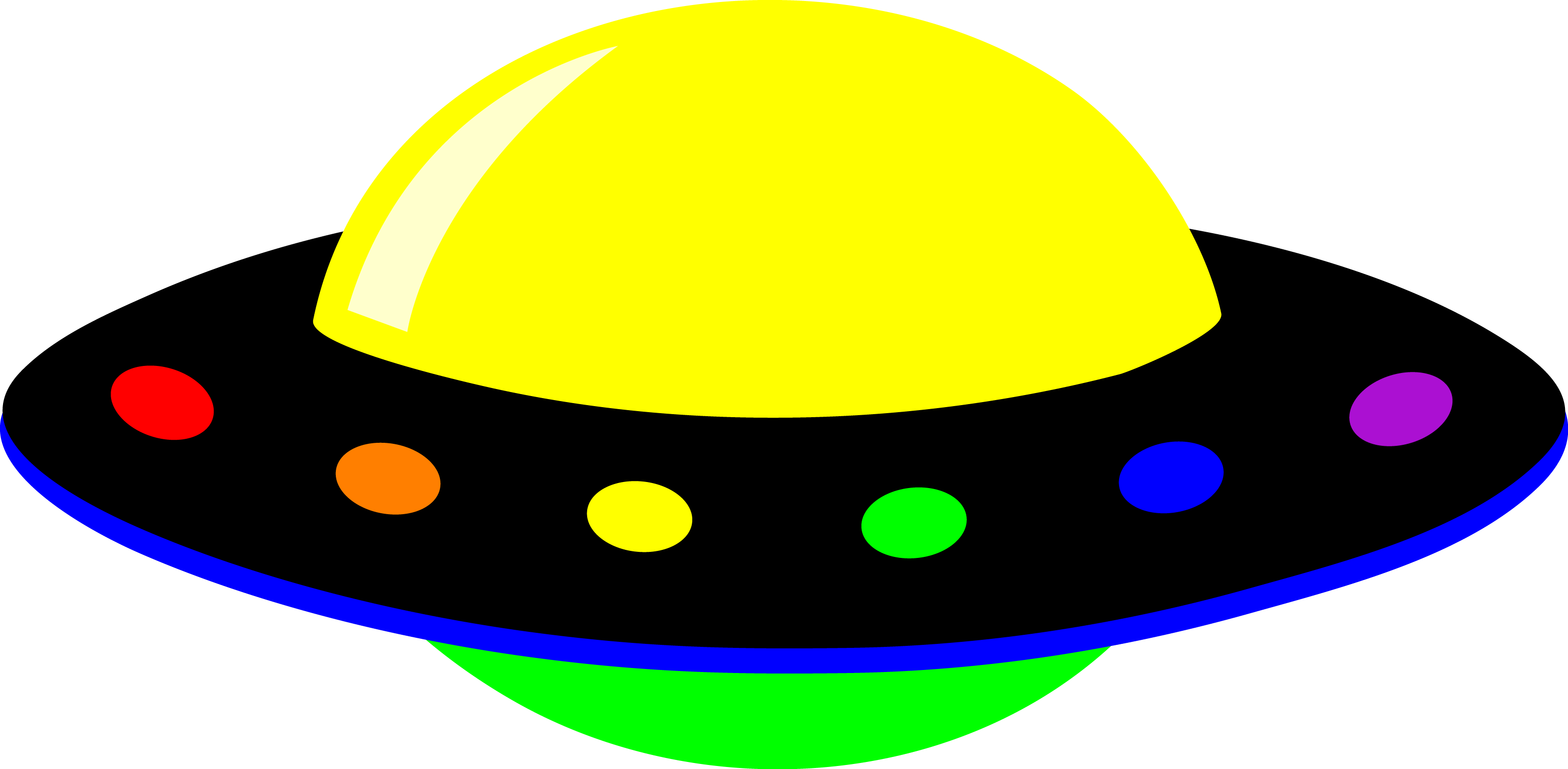 Vector ufo colourful. Collection of alien