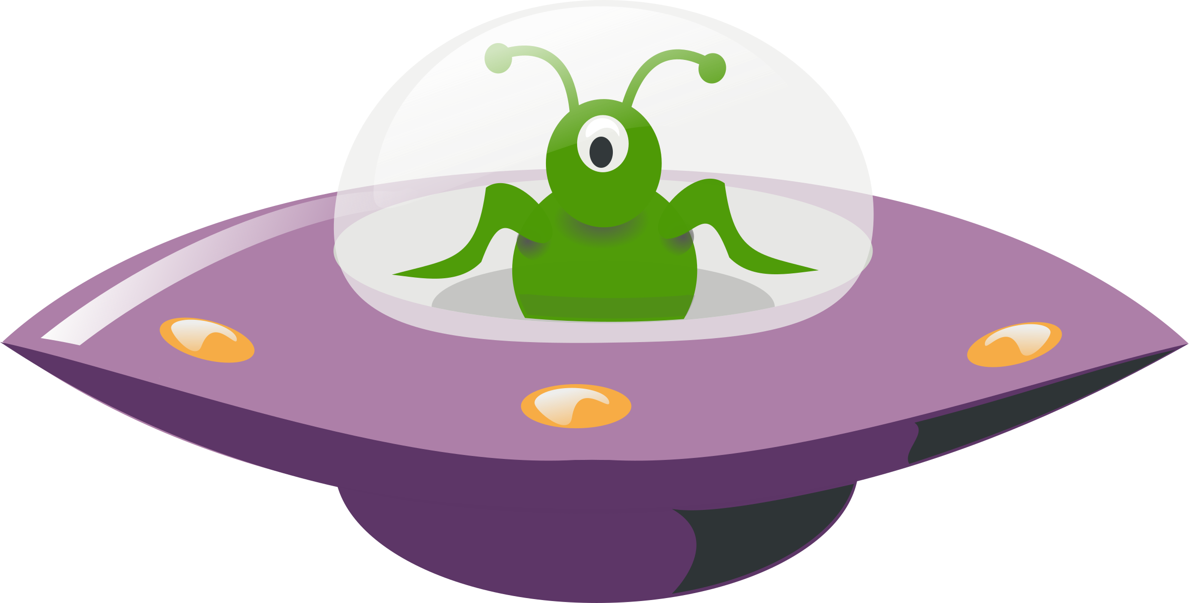 Vector ufo colourful. In cartoon style icons
