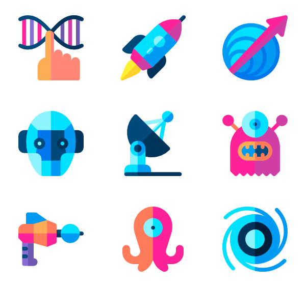 Icons free science fiction. Vector ufo flat design png transparent library