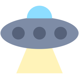 Vector ufo flat design. Icon myiconfinder
