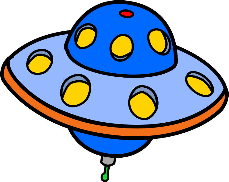 Vector ufo flying saucer. Clip art free to
