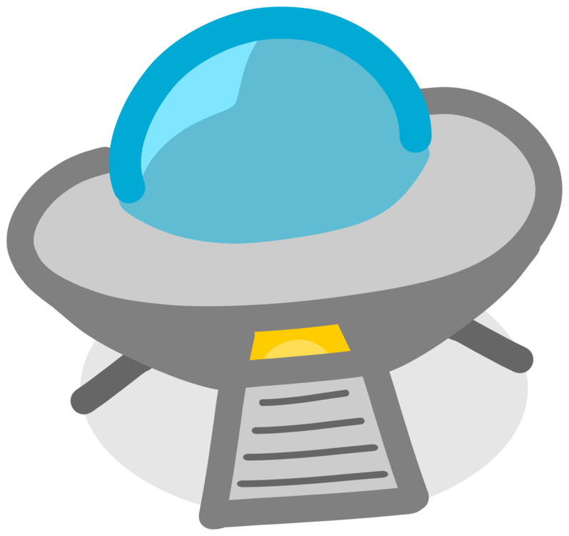 Vector ufo flying saucer. Unidentified object computer icons